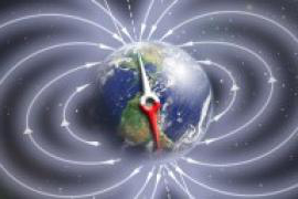 Schematic illustration of Earth's magnetic field.